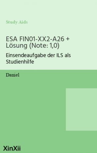 ESA FIN01-XX2-A26 + Lösung (Note: 1,0)