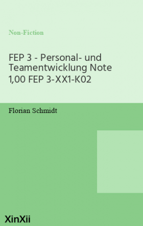 FEP 3 - Personal- und Teamentwicklung Note 1,00 FEP 3-XX1-K02
