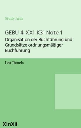 GEBU 4-XX1-K31 Note 1