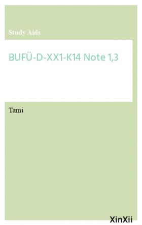BUFÜ-D-XX1-K14  Note 1,3
