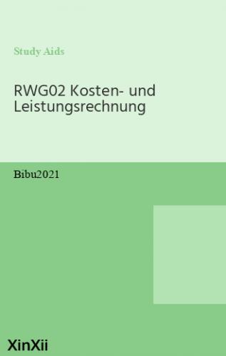 RWG02 Kosten- und Leistungsrechnung