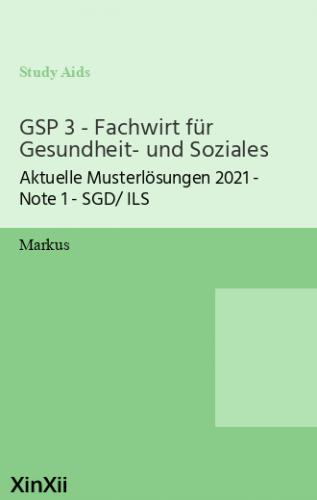 GSP 3 - Fachwirt für Gesundheit- und Soziales