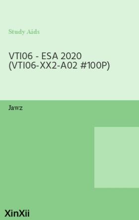 VTI06 - ESA 2020 (VTI06-XX2-A02 #100P)