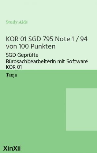 KOR 01 SGD 795 Note 1 / 94 von 100 Punkten