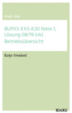 BUF03-XX5-K20 Note 1, Lösung 08/19 inkl. Betriebsübersicht