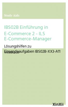 IBS02B Einführung in E-Commerce 2 - ILS E-Commerce-Manager