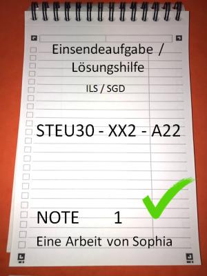 STEU30 - XX2 - A22 // STEU 30 // Note 1 // 100 Punkte