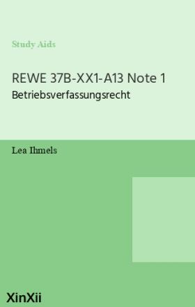 REWE 37B-XX1-A13 Note 1