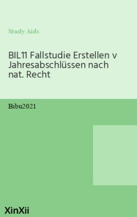 BIL11 Fallstudie Erstellen v Jahresabschlüssen nach nat. Recht