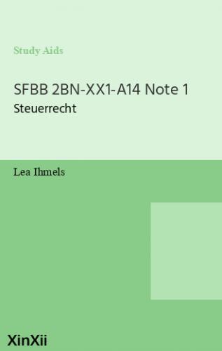 SFBB 2BN-XX1-A14 Note 1