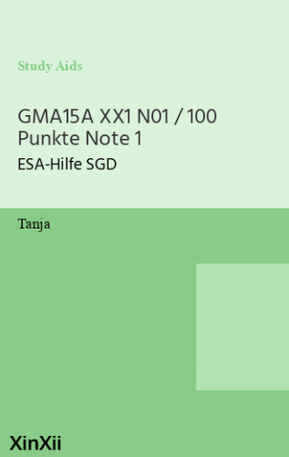 GMA15A XX1 N01 / 100 Punkte Note 1