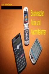 Businessplan als Autor und Nachhilfelehrer 2
