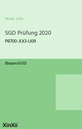SGD Prüfung 2020