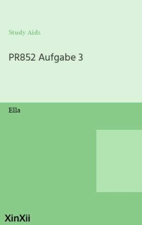 PR852 Aufgabe 3