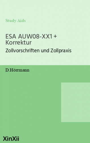 ESA AUW08-XX1 + Korrektur