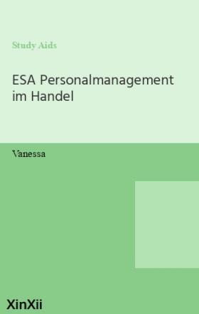 ESA Personalmanagement im Handel