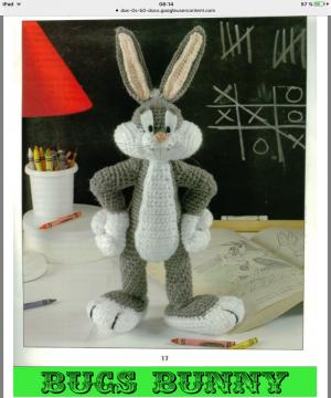 Bugs BUNNY en crochet