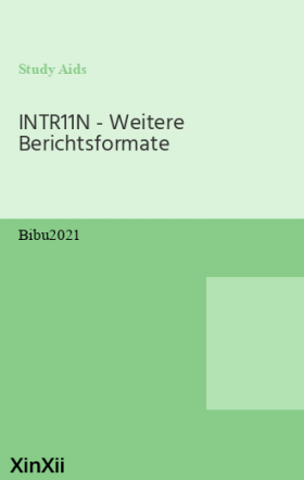 INTR11N - Weitere Berichtsformate