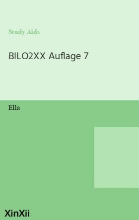 BILO2XX Auflage 7