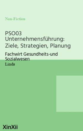 PSO03 Unternehmensführung: Ziele, Strategien, Planung