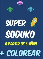Super sudoku y colorear a partir de 6 años