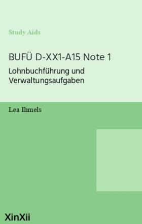 BUFÜ D-XX1-A15 Note 1