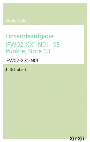 Einsendeaufgabe IFW02-XX1-N01 - 95 Punkte, Note 1,3