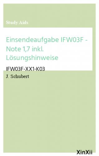 Einsendeaufgabe IFW03F - Note 1,7 inkl. Lösungshinweise