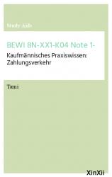 BEWI 8N-XX1-K04 Note 1-