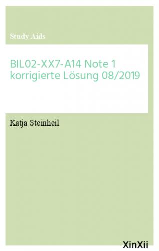 BIL02-XX7-A14 Note 1 korrigierte Lösung 08/2019