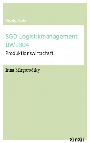 SGD Logistikmanagement BWLB04