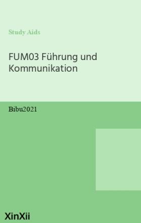 FUM03 Führung und Kommunikation