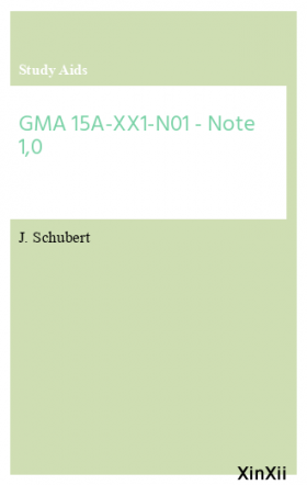 GMA 15A-XX1-N01 - Note 1,0