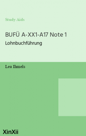 BUFÜ A-XX1-A17 Note 1