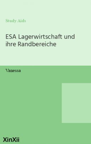 ESA Lagerwirtschaft und ihre Randbereiche