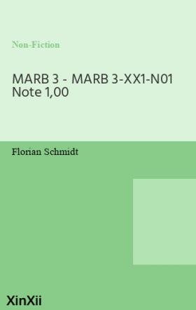 MARB 3 - MARB 3-XX1-N01 Note 1,00