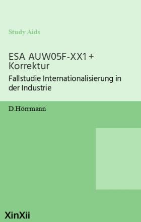 ESA AUW05F-XX1 + Korrektur
