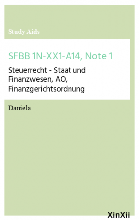 SFBB 1N-XX1-A14, Note 1