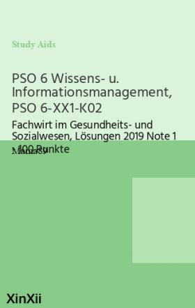 PSO 6 Wissens- u. Informationsmanagement, PSO 6-XX1-K02