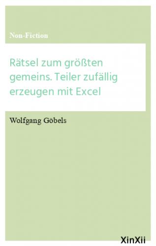 Rätsel zum größten gemeins. Teiler zufällig erzeugen mit Excel