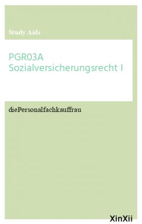 PGR03A Sozialversicherungsrecht I