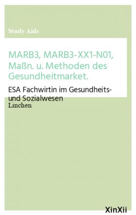 MARB3, MARB3-XX1-N01, Maßn. u. Methoden des Gesundheitmarket.
