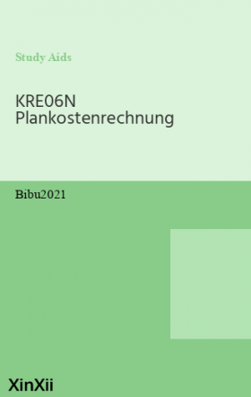 KRE06N Plankostenrechnung
