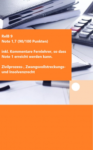 RelB 9 - Note 1,7 (90/100 Punkte) - inkl. Korrektur Fernlehrer