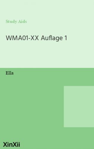 WMA01-XX Auflage 1