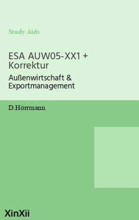 ESA AUW05-XX1 + Korrektur