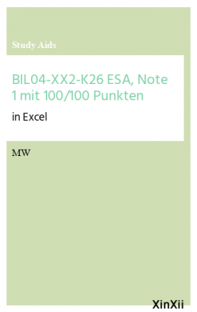 BIL04-XX2-K26 ESA, Note 1 mit 100/100 Punkten