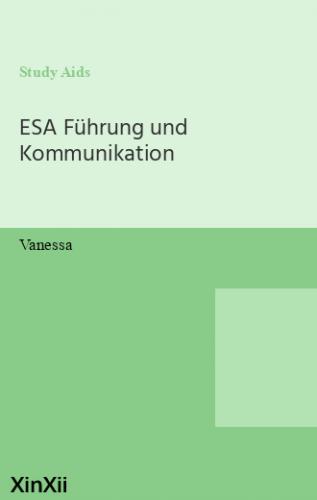 ESA Führung und Kommunikation