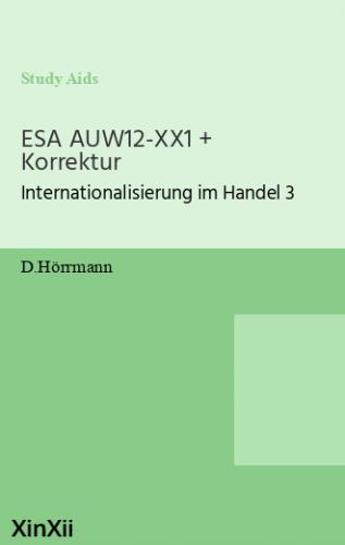 ESA AUW12-XX1 + Korrektur