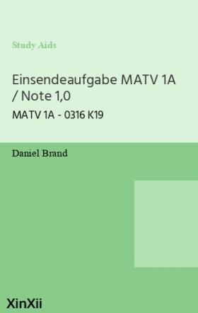 Einsendeaufgabe MATV 1A / Note 1,0